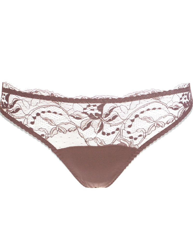 Mink Lace Thong