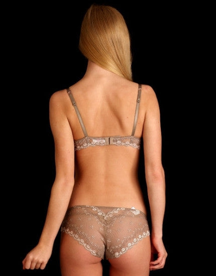 Daisy Lace Brief in Taupe
