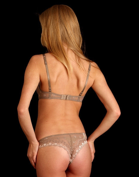 Daisy Lace Thong in Taupe