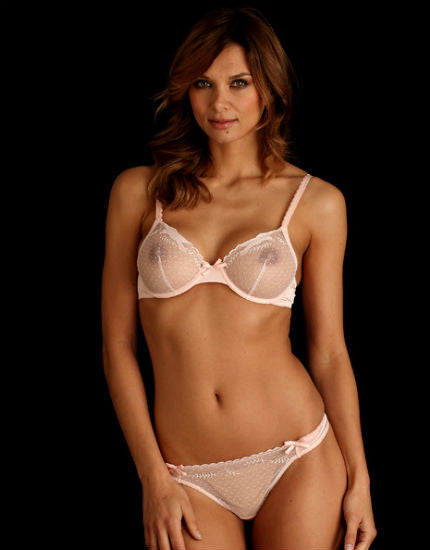 Esquisse Lace Thong in Rose Thé
