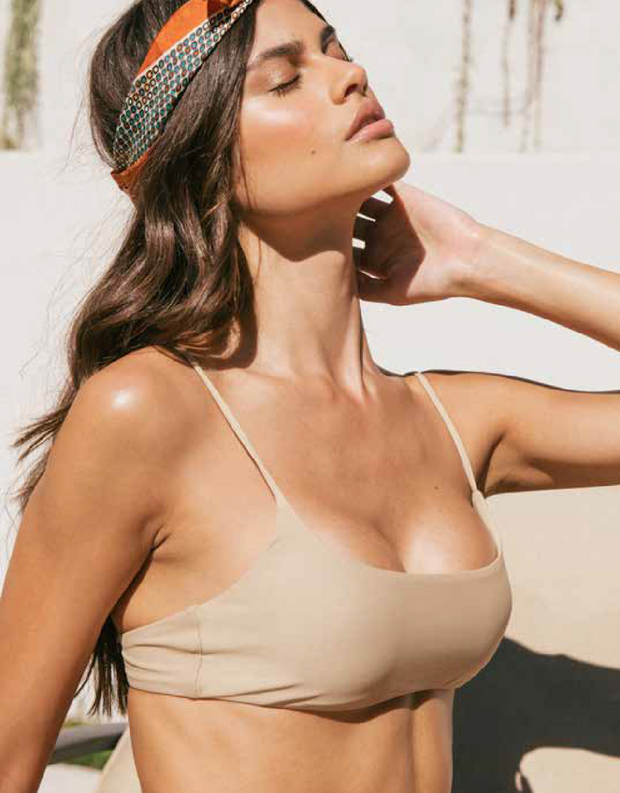 Jade Swim Muse Scoop Top in Khaki