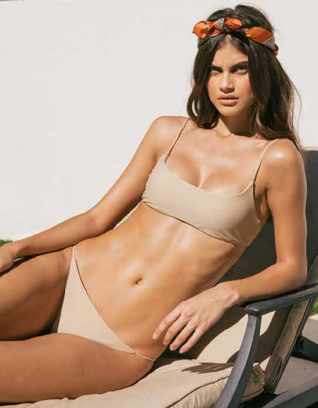 Jade Swim Bare Minimum Bottom in Khaki