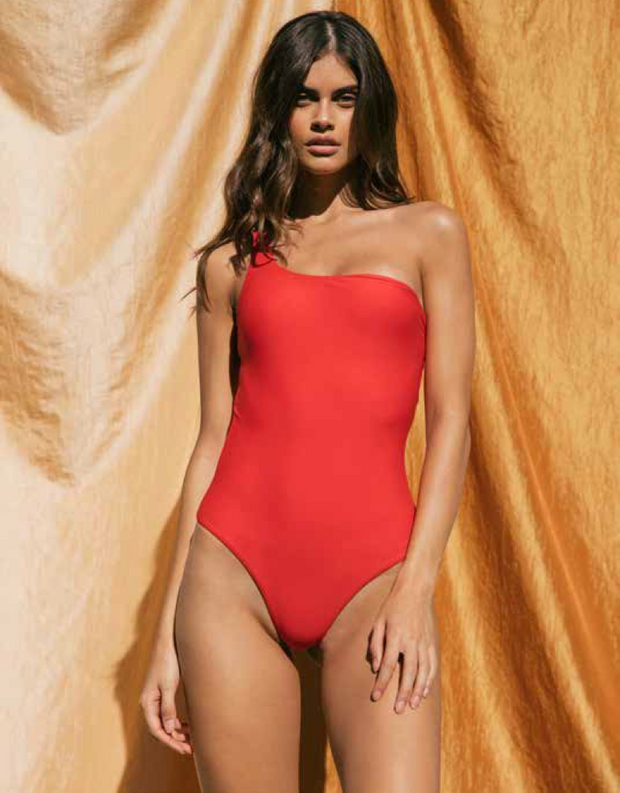 Jade Swim Apex One Piece in Lava
