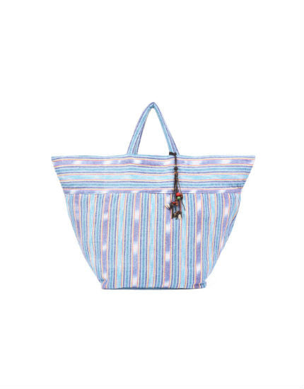 jade tribe blue samui stripe beach bag