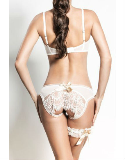 Sarah Lou Lace Ouvert Brief in Ivory