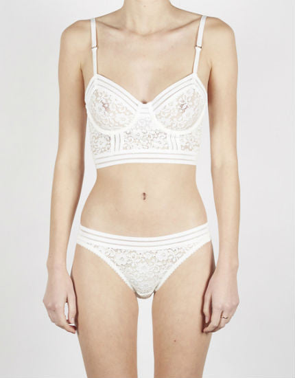 Lonely Lingerie Agnes Bikini Brief Brief in Ivory Lace