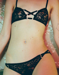 Betty Brief in Black Lace