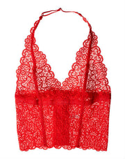 Lonely Cyd Lace longling bra in poppy