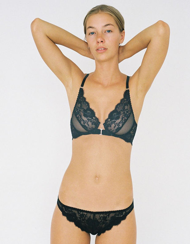 Lydia Tri Brief Black