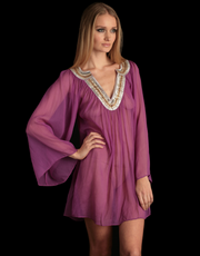 Lotus London Purple Silk Kaftan
