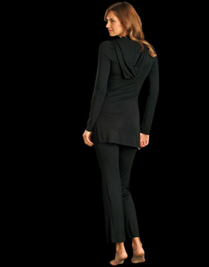 lounge lover black pocket pant