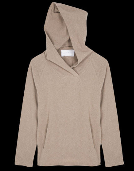 Winter Chill Hooded Sweater in Latte