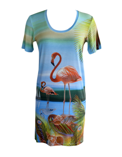 Flamingo Jersey T Dress