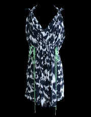 Leopard Cowl Neck Dress