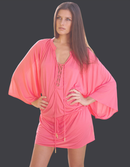 Natasha Tunic in Bright Rose