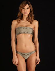 Phuket Cutout Swimsuit in Truffle