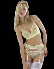 Mimi Holliday Gin Fizz Lemon Lace Underwire Bra