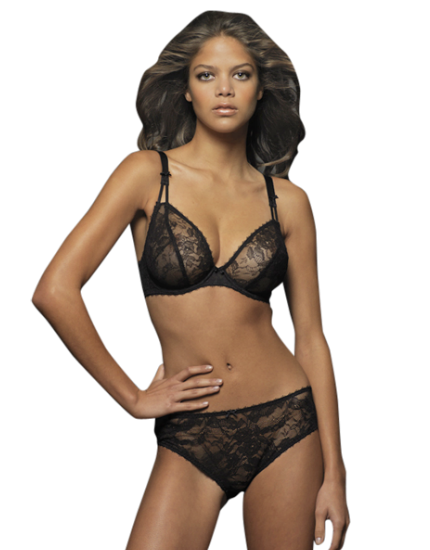 miss mandalay black lace bella plunge bra