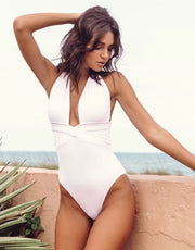 Oye Swimwear Roman One Piece White