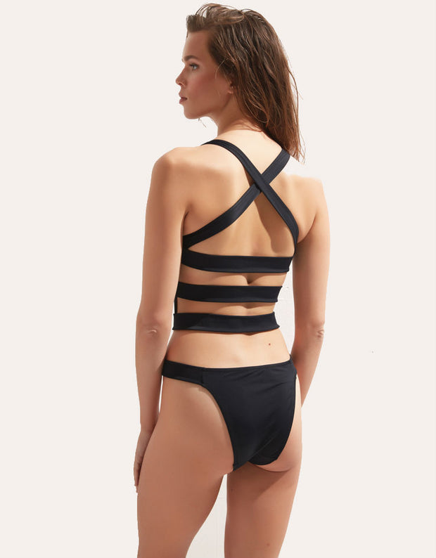 Oye Swimwear Leeloo One Piece in Black