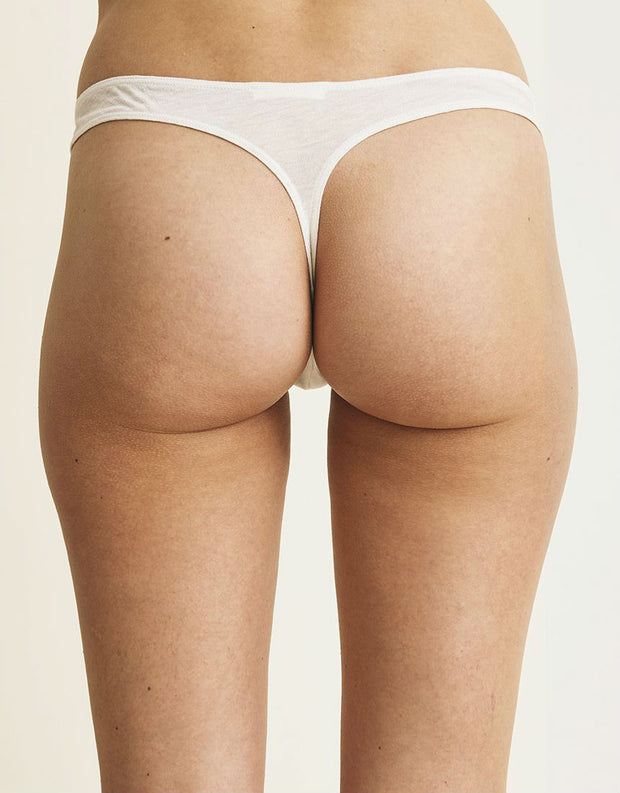 Organic Cotton Thong in Nude