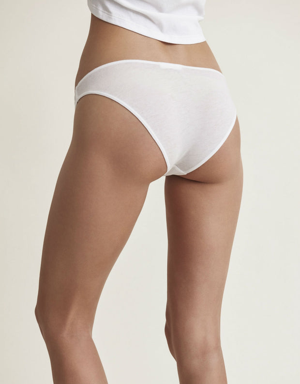 Basic Organic Cotton Bikini Brief in White