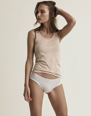 Skin Organic Cotton Boyshort White