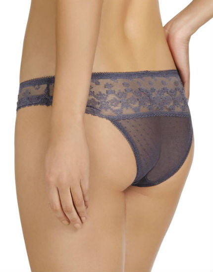 Stella McCartney Mathilda Giggling Grey Lace & Silk Brief