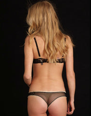 Hopping Black Lace Thong