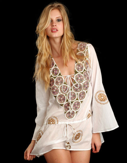 TAJ white tunic