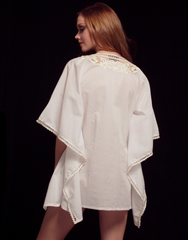 White & Cream Cotton Tunic