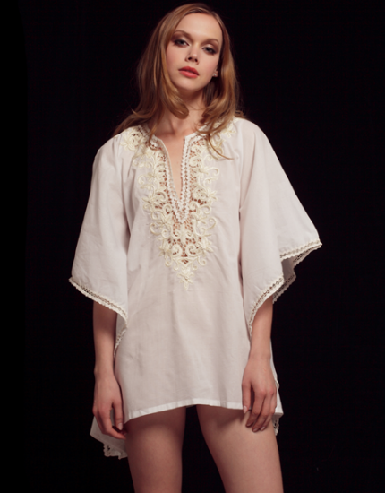 TAJ white cotton tunic