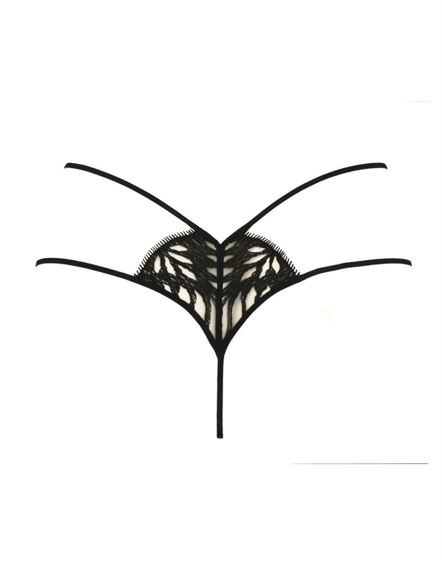 Tisja Damen Sphinx Black Thong