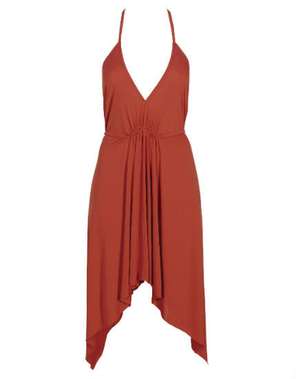 Marisa Halter Dress in Cayenne