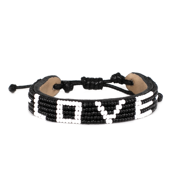 Load image into Gallery viewer, 5 Row Black/White Love Bracelet