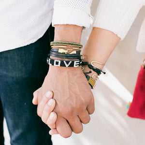 5 Row Black/White Love Bracelet
