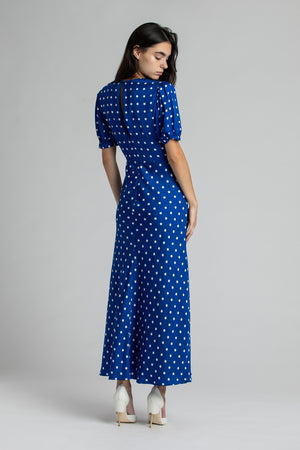 Load image into Gallery viewer, Polka Dot Midi Dress