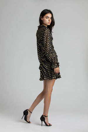 Load image into Gallery viewer, Dot Fill Coupe Mini Dress