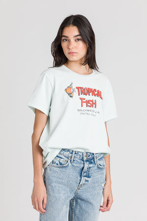Load image into Gallery viewer, 70S Loose Tee Tropical Fish