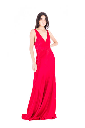 Load image into Gallery viewer, V Neck Cross Front Gown