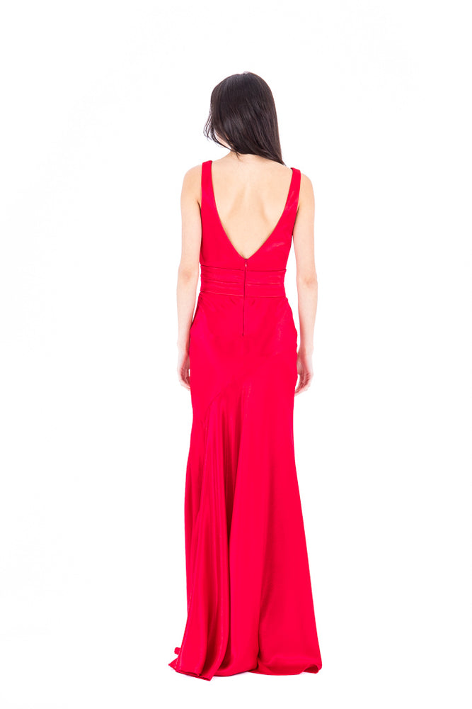 V Neck Cross Front Gown