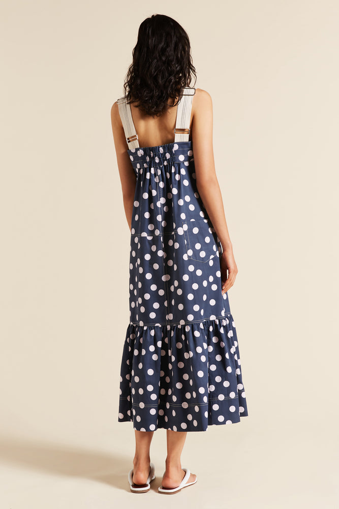 Bea Spot Poplin Apron Dress