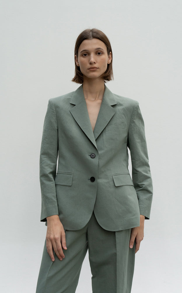 Load image into Gallery viewer, Linen Cotton Basic Blazer