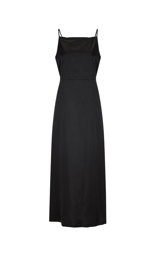 Load image into Gallery viewer, Black Double Slip Dress
