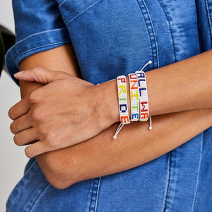 Load image into Gallery viewer, Multi/White Unite Woven Bracelet