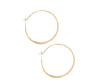 14K Yellow Gold Extra Large Hoop
