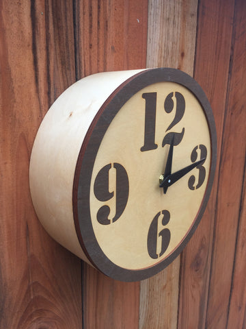 Modern Train Station Style Wall Clock OCW Creations