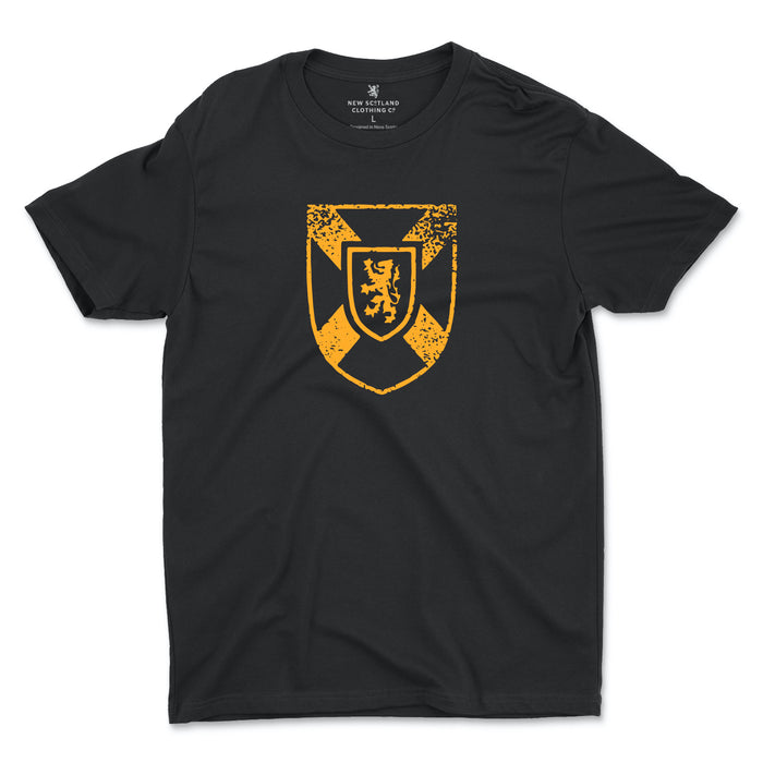 100% Organic Cotton Coat of Arms T-shirt in Black
