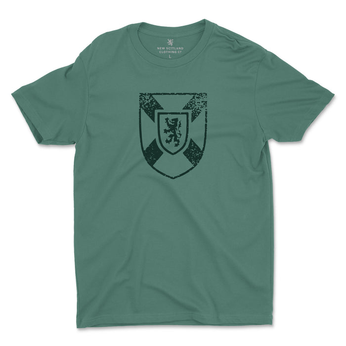 100% Organic Cotton Coat of Arms T-shirt in Washed Forest