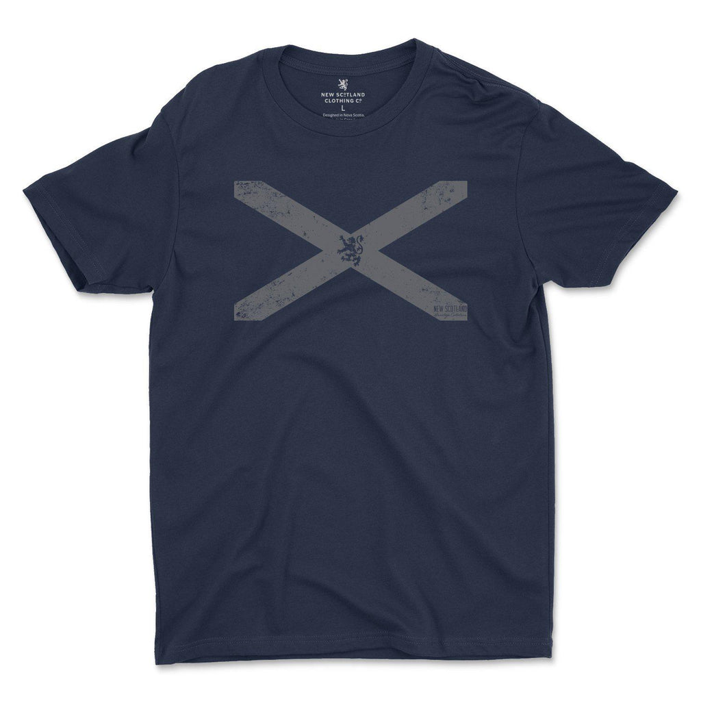 100% Organic Vintage St. Andrew's Cross T-shirt in Navy